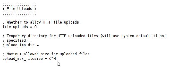 خطای exceeds the upload_max_filesize